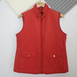 Talbots | Lightweight dusty orange vest Size M
